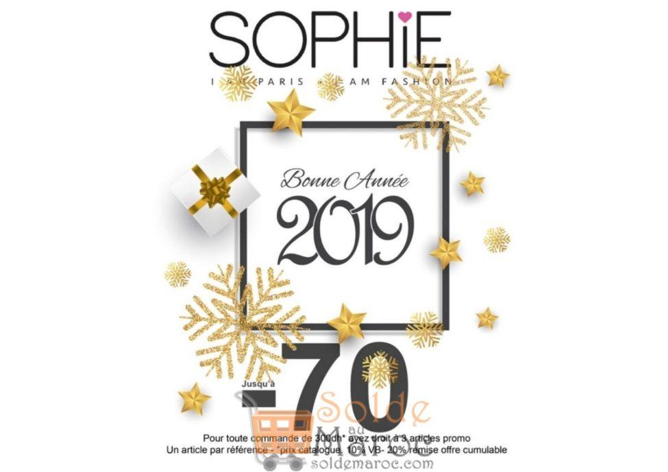 Promo Fin d'année 2018 Sophie Paris Maroc Jusqu'à -70%