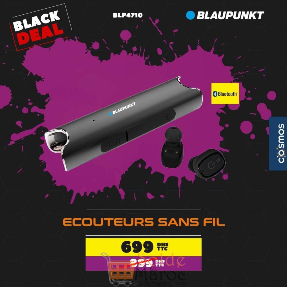 Black Deal Cosmos Electro Écouteurs sans fil Blaupunkt 699Dhs au lieu de 899Dhs