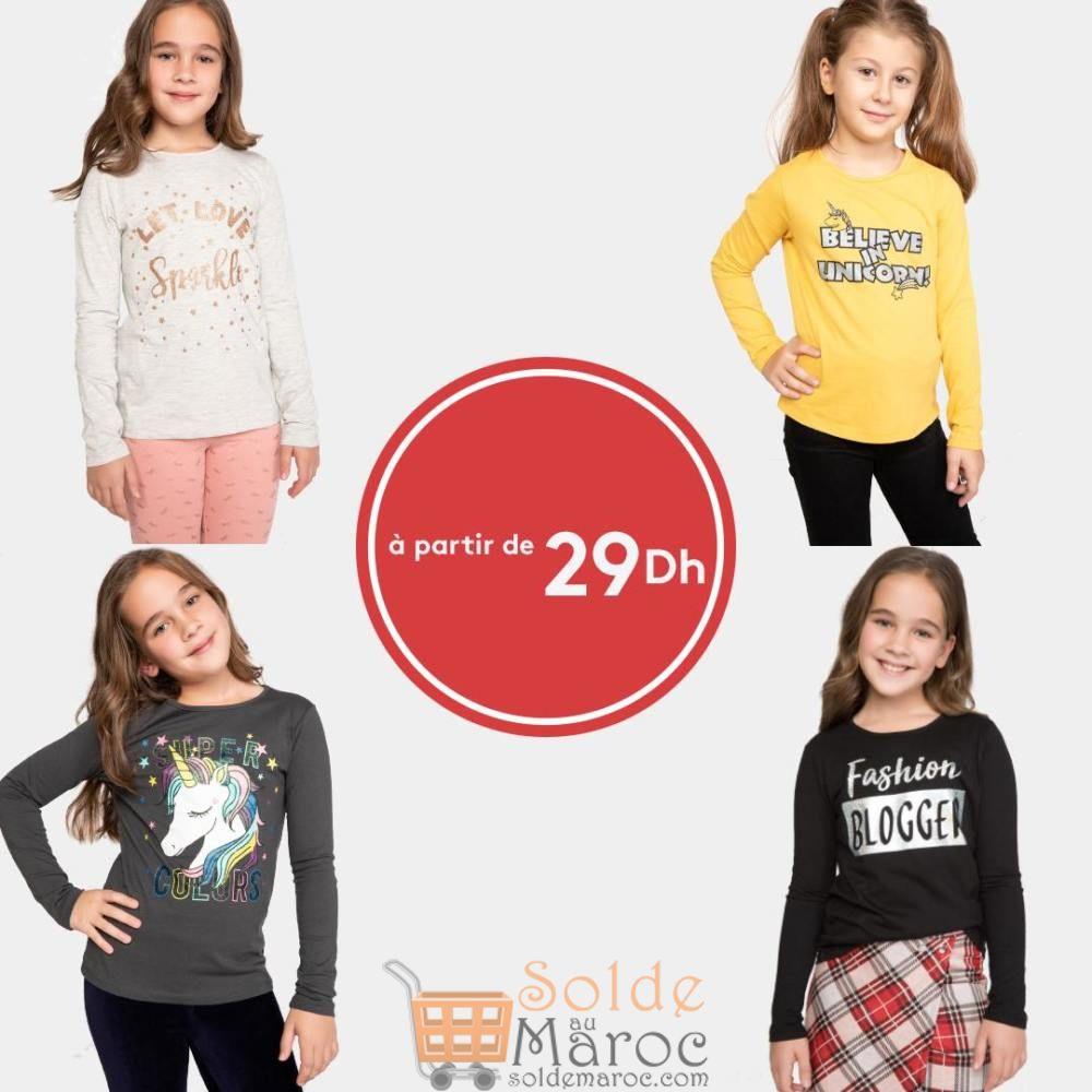 Super Offre Defacto Maroc bodys filles à partir de 29Dhs