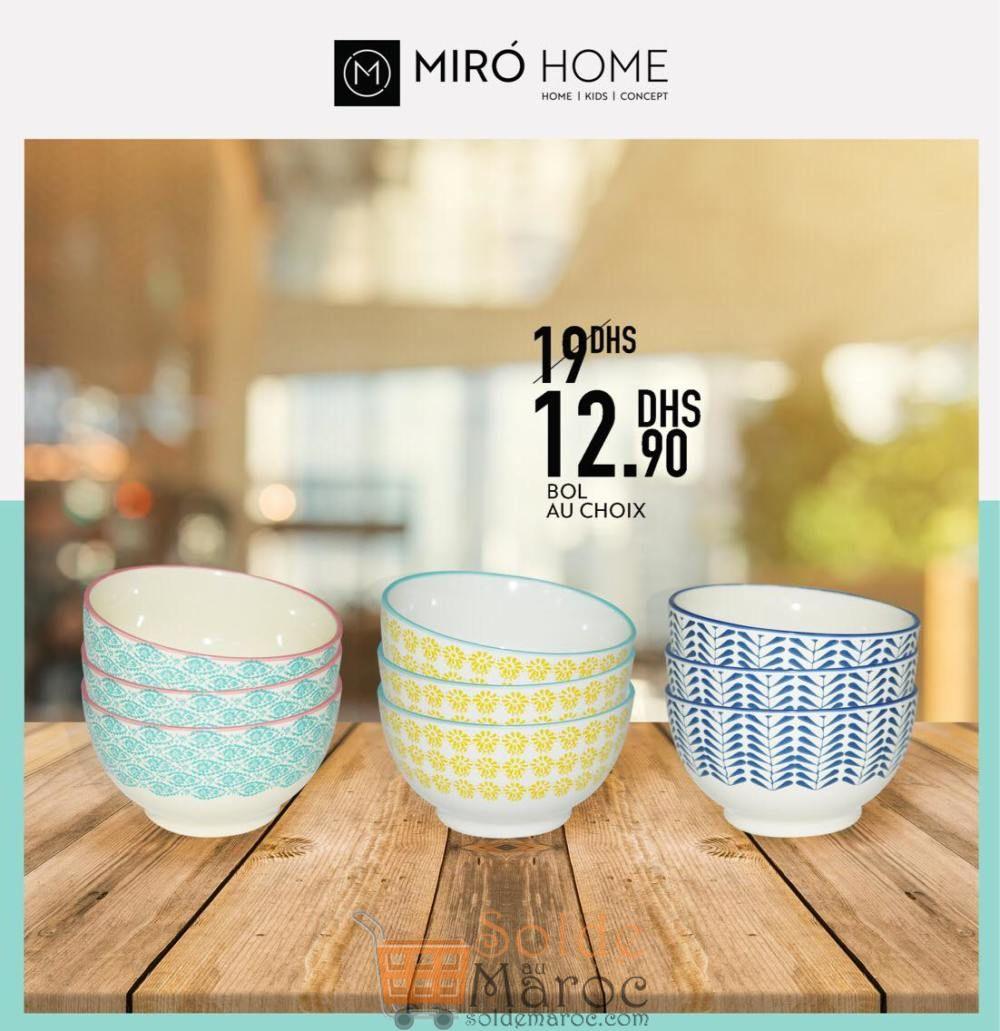 Promo Miro Home Bol au choix 12.90Dhs au lieu de 19Dhs