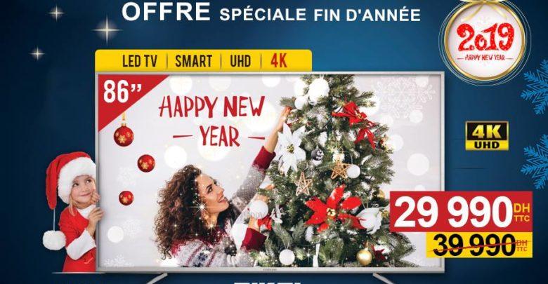Offre Spéciale Electro Bousfiha Smart TV 86° 4K NIKAI 29990Dhs au lieu de 39990Dhs