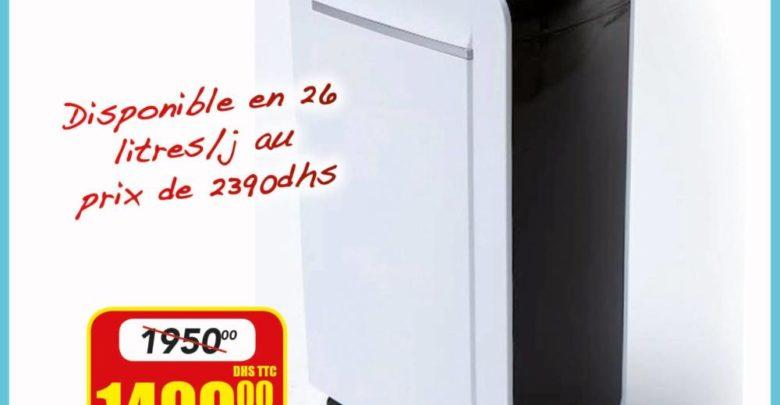 Promo Bricoma Déshumidificateur 12L/jour 1499Dhs au lieu de 1950Dhs