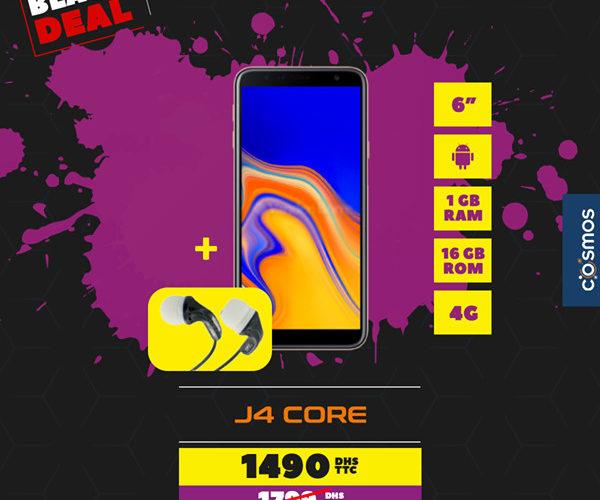 Black Deal Cosmos Electro J4 Core SAMSUNG 1490Dhs au lieu de 1799Dhs