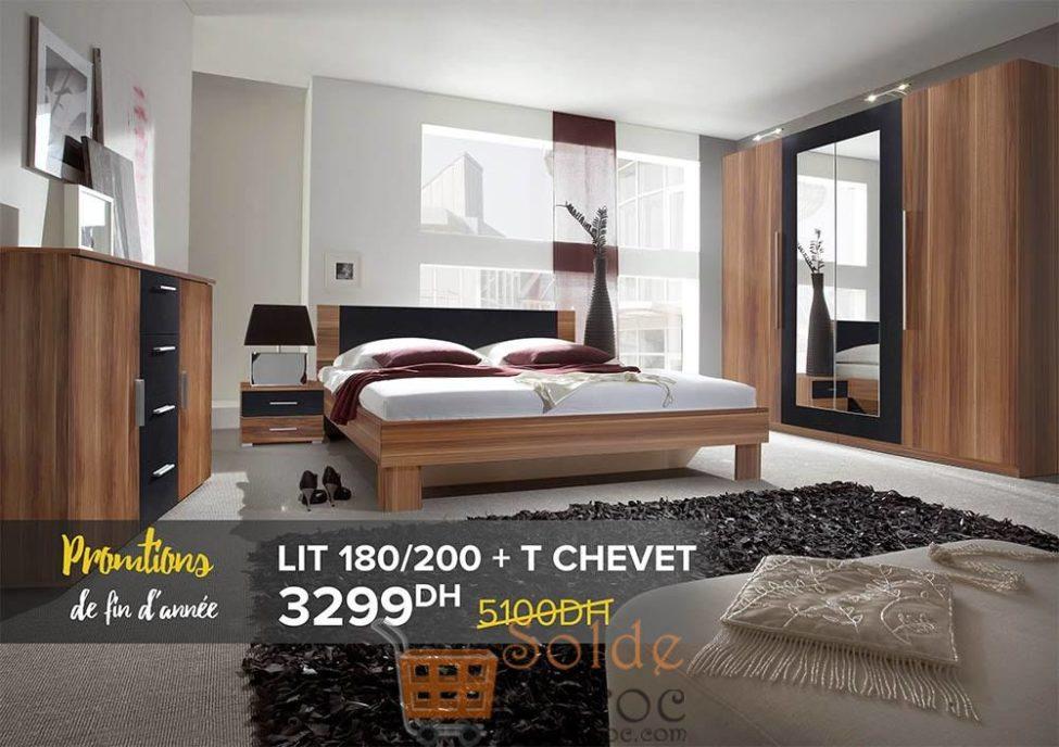 Promo Cozy Home Lit+T chevet 3299Dhs au lieu de 5100Dhs