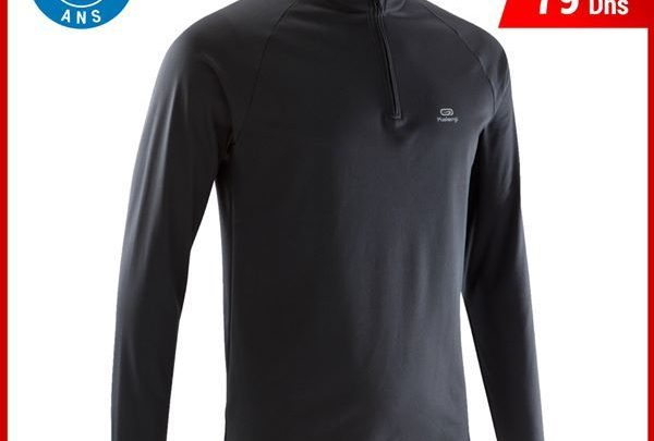 Photo of Soldes Decathlon Maroc Tee Shirt Manches Longues Running 99Dhs au lieu de 79Dhs