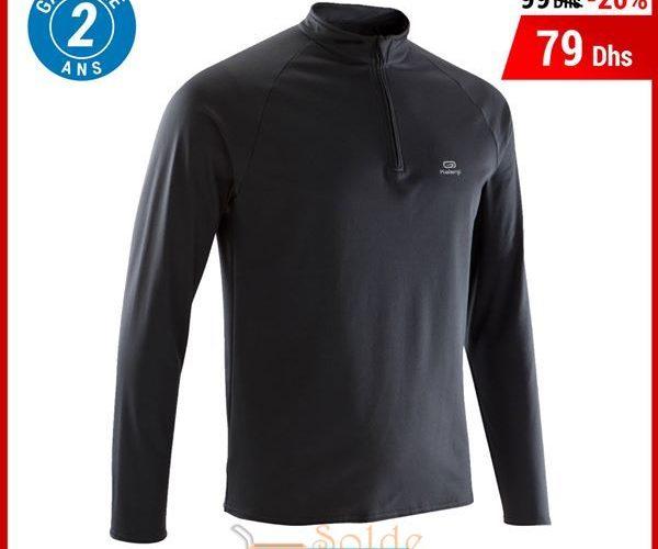 Soldes Decathlon Maroc Tee Shirt Manches Longues Running 99Dhs au lieu de 79Dhs