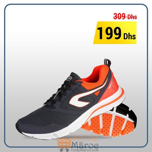 Soldes Decathlon Maroc Chaussure Course à Pied Homme Run Active Noir 199Dhs au lieu de 309Dhs