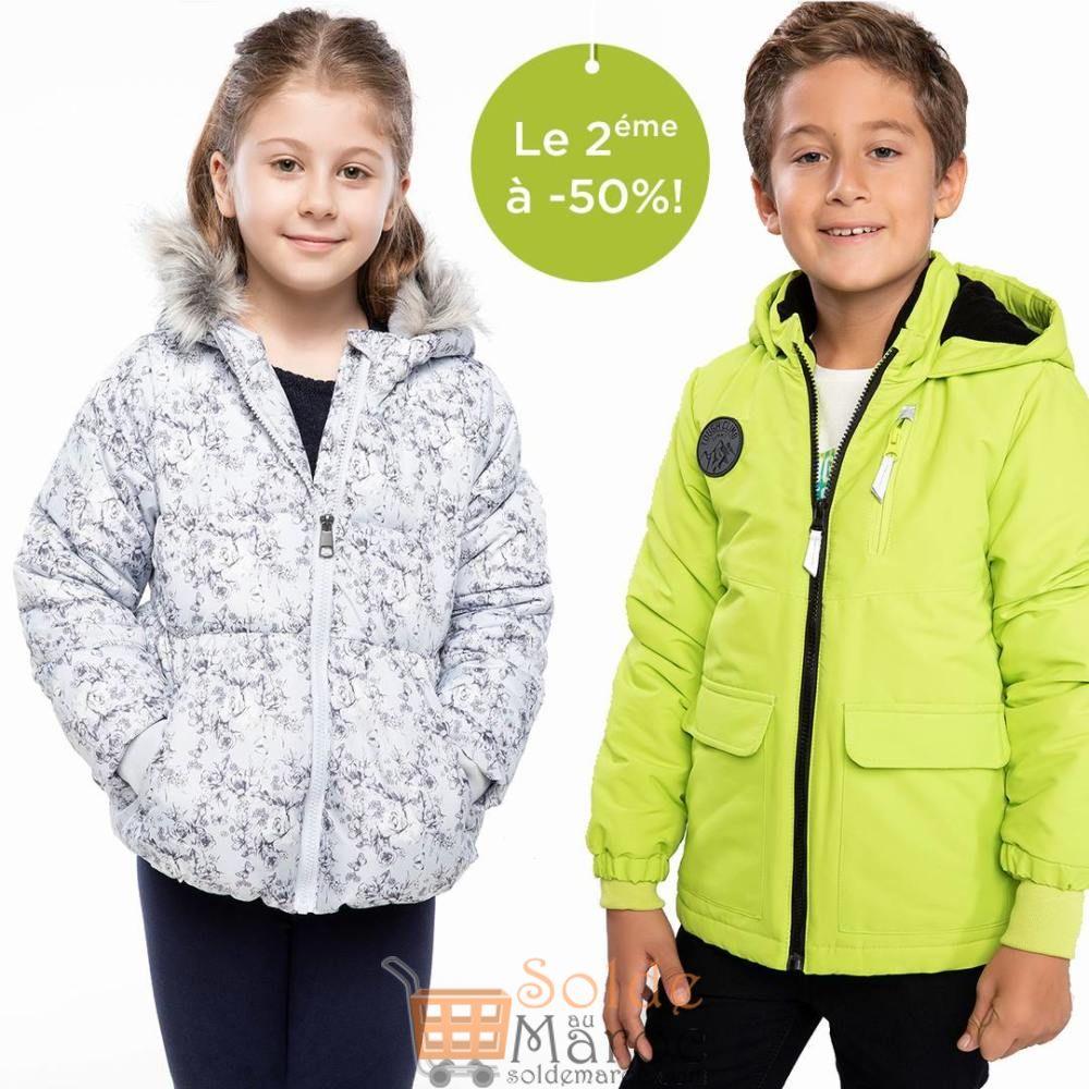 Promo Defacto Maroc 1 Manteau Enfant Le 2éme à -50% Jusqu'au 19 Décembre