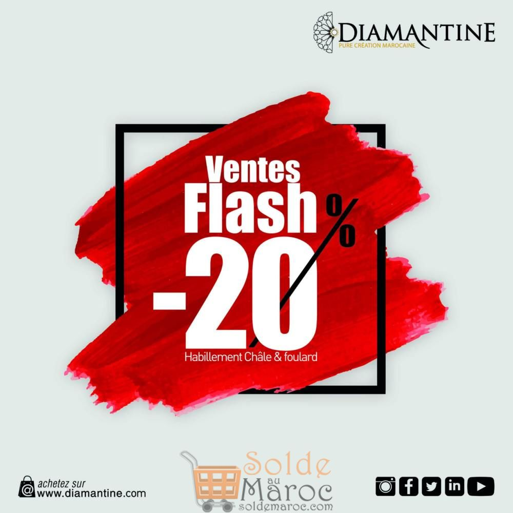 Ventes Flash Diamantine -20% sur la nouvelle collection