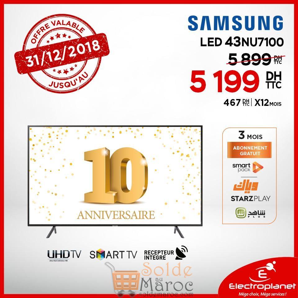 Promo Electroplanet Smart Tv SAMSUNG 43° UHD 5199Dhs au lieu de 5899Dhs