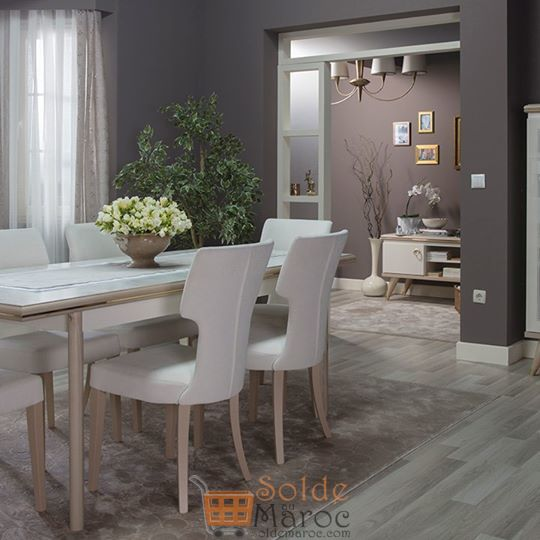 soldes istikbal maroc table salle manger elizya 6. Black Bedroom Furniture Sets. Home Design Ideas