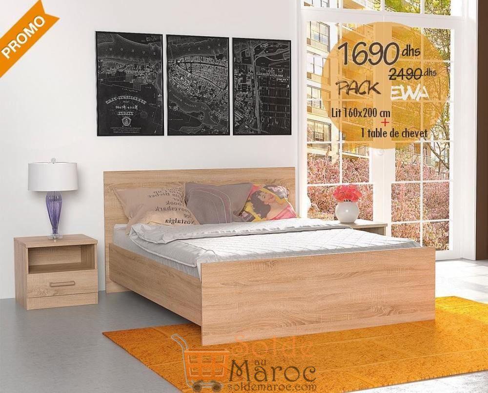 Soldes Azura Home PACK EWA 160X200 CM 1690Dhs au lieu de 2490Dhs