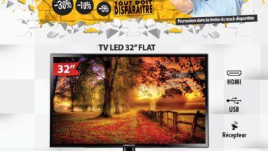Déstockage Eqitem Electro Tv 32° FLAT Samsung 2490Dhs au lieu de 2890Dhs