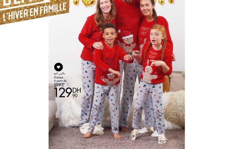 Promo Gémo Maroc Pyjama 129Dhs au lieu de 199Dhs