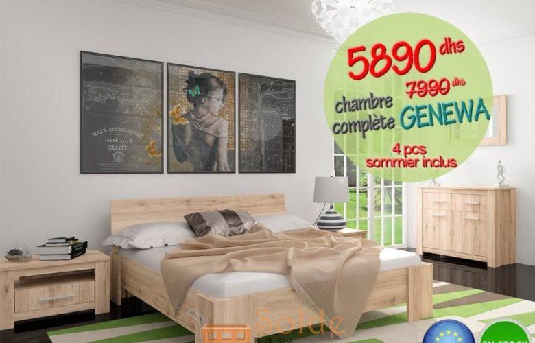 Soldes Azura Home CHAMBRE COMPLÈTE GENEWA 5890Dhs au lieu de 7990Dhs