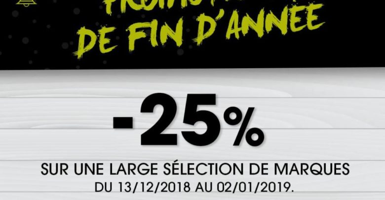 Photo of Promo fin d'année 25% chez GO Sport Jusqu'au 2 Janvier 2019