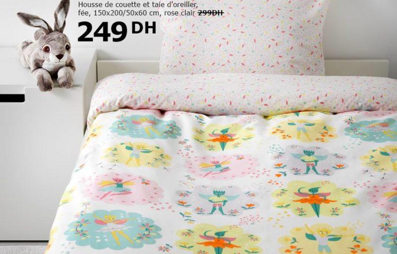 Soldes Ikea Maroc Housse de couette et taie d'oreiller LATTJO 249Dhs au lieu de 299Dhs