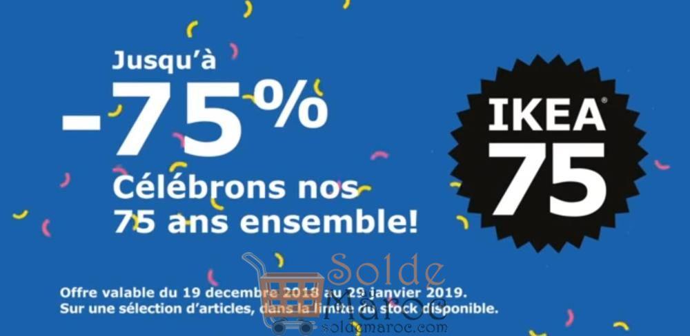Soldes Ikea Maroc Jusqu'à -75% du 19 décembre 2018 au 29 janvier 2019