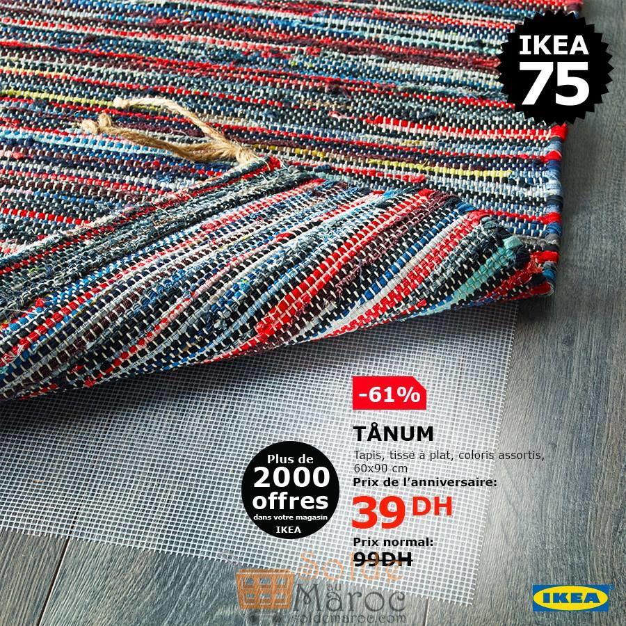 soldes ikea maroc tapis tiss plat 39dhs au lieu de. Black Bedroom Furniture Sets. Home Design Ideas
