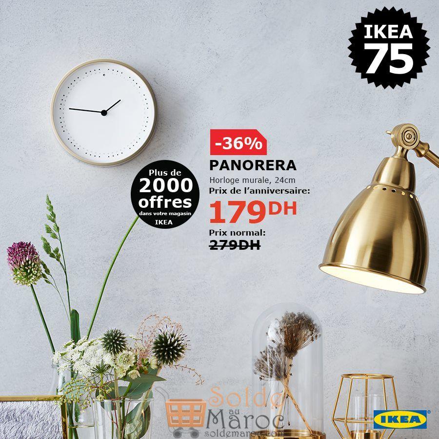 Soldes Ikea Maroc Horloge murale PANORERA 179Dhs au lieu de 279Dhs