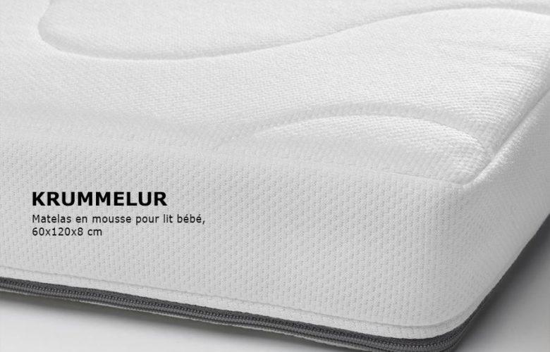 Soldes Ikea Family Maroc Matelas en mousse pour lit Bébé KRUMMELUR 549Dhs au lieu de 699Dhs