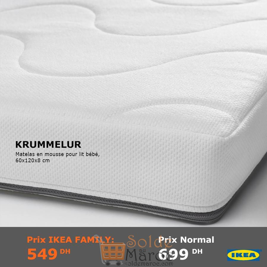 soldes ikea family maroc matelas en mousse pour lit b b. Black Bedroom Furniture Sets. Home Design Ideas