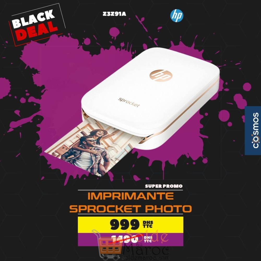 Black Deal Cosmos Electro Imprimante HP Sprocket Photo 999Dhs au lieu de 1490Dhs