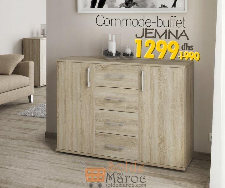 Soldes Azura Home COMMODE-BUFFET JEMNA 120CM 1299Dhs au lieu de 1990Dhs
