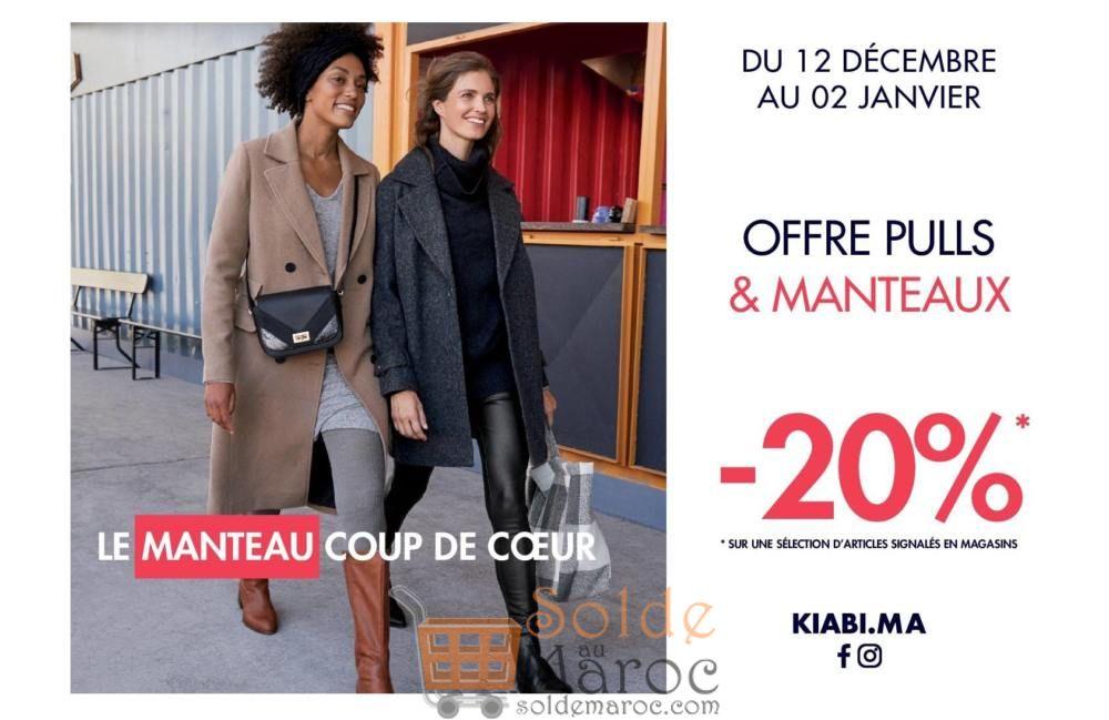 Promo Kiabi Maroc Pulls & Manteaux du 12 Décembre au 2 Janvier 2019