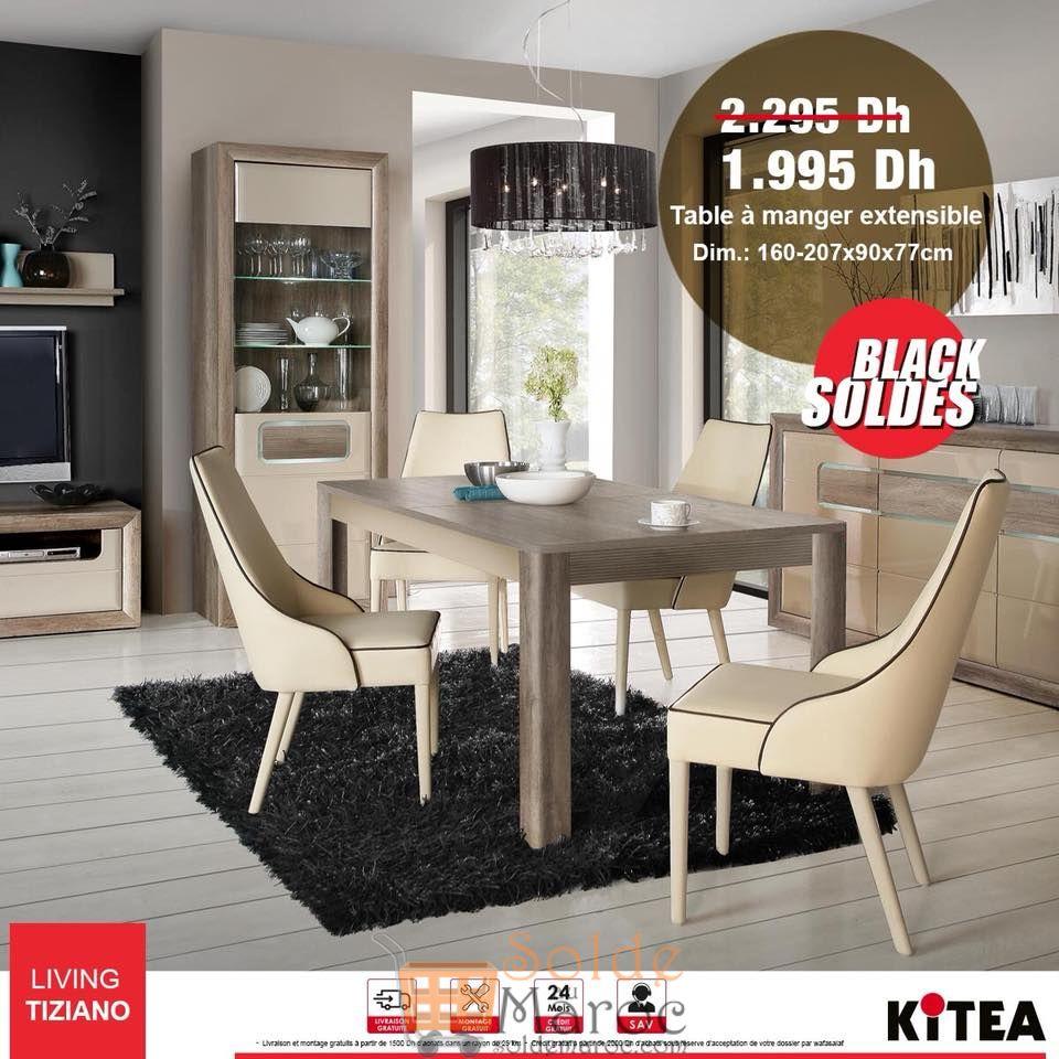 Soldes Kitea Tables à manger extensible TIZIANO 1995Dhs au lieu de 2295Dhs