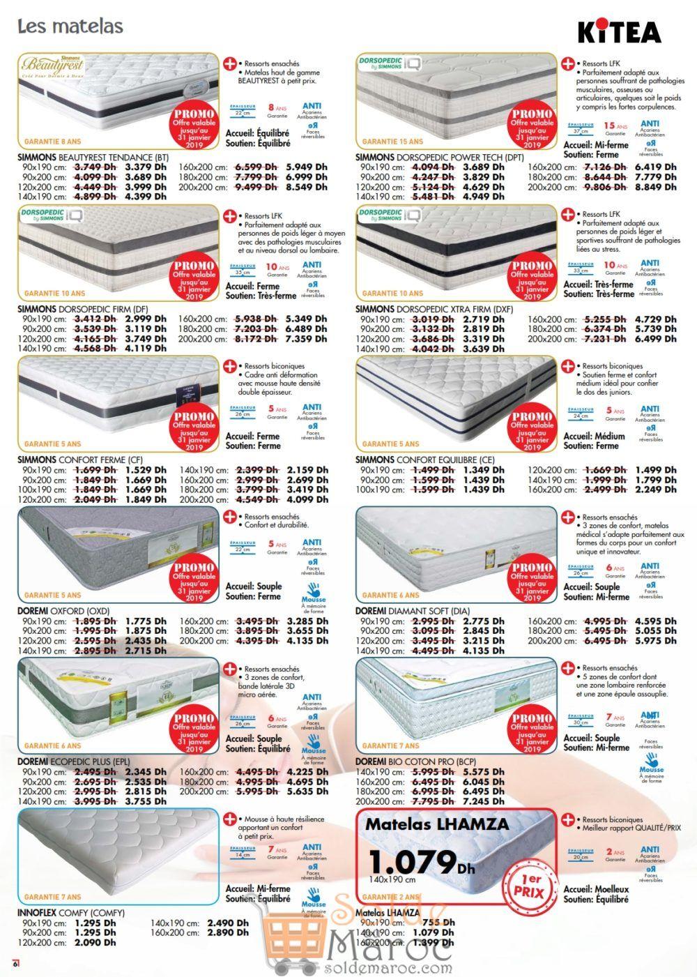 Catalogue Kitea Guide Sommeil Jusqu'au 31 Janvier 2019