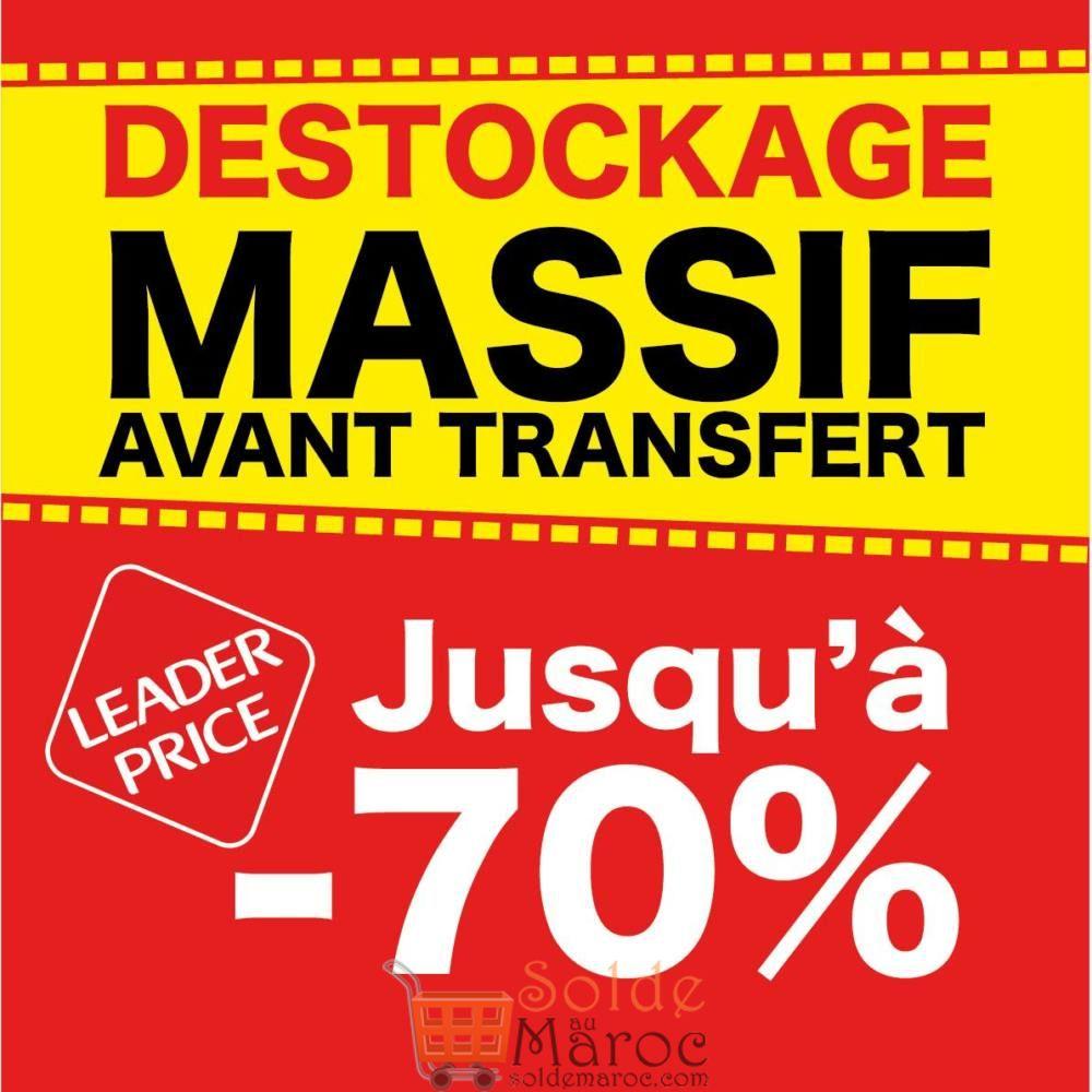 Déstockage Massif avant transfère Leader Price Maroc Décembre 2018