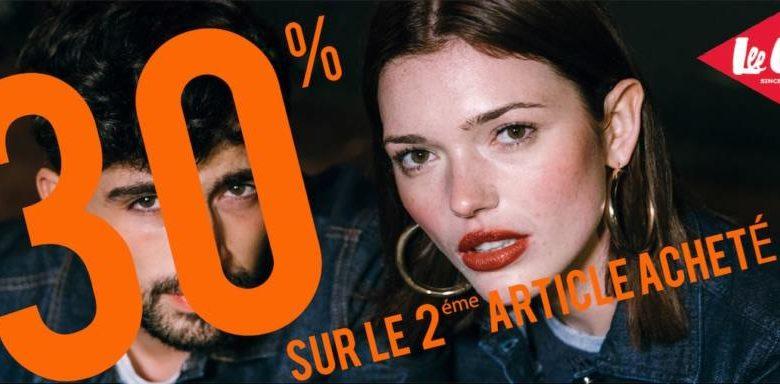 Promo Lee Cooper Maroc 30% sur le 2ème article acheté