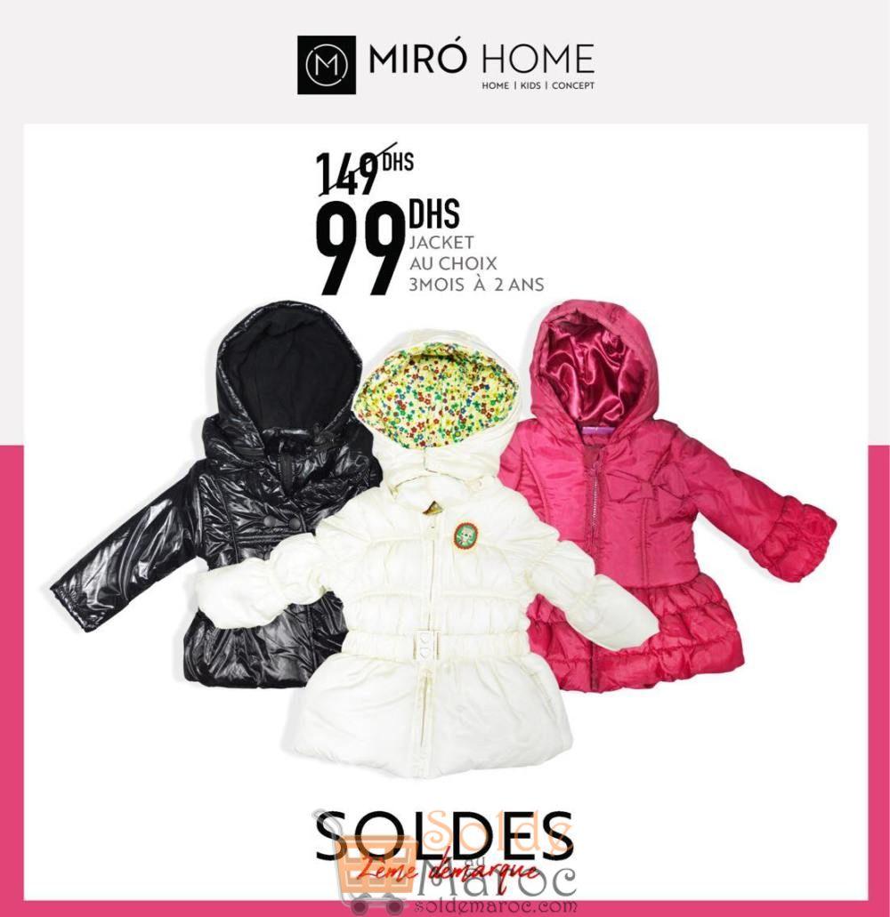 Soldes Miro Home Jacket fille au choix 99Dhs au lieu de 149Dhs