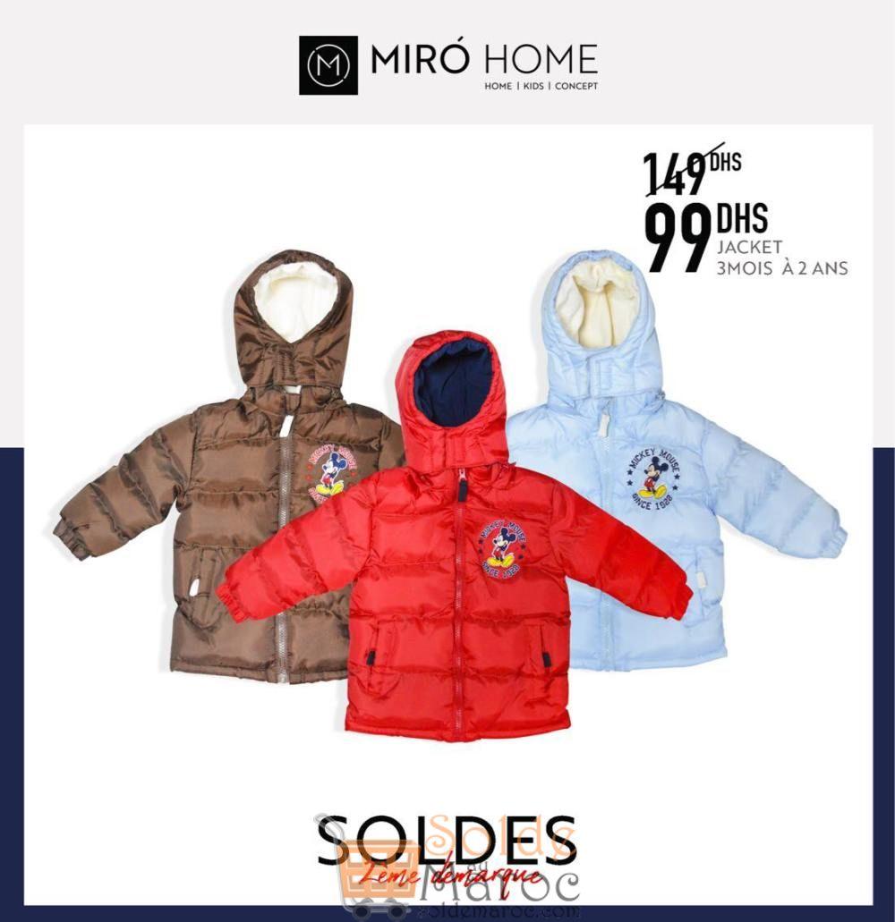 Soldes Miro Home Jacket garçon au choix 99Dhs au lieu de 149Dhs