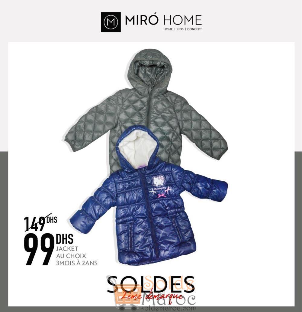 Soldes Miro Home Jacket au choix 99Dhs au lieu de 149Dhs