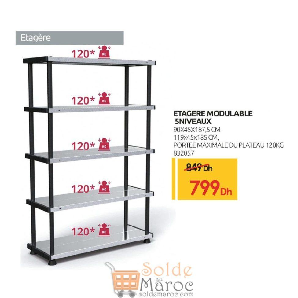 Promo Mr Bricolage Maroc Étagère modulable 5 niveaux 799Dhs au lieu de 849Dhs
