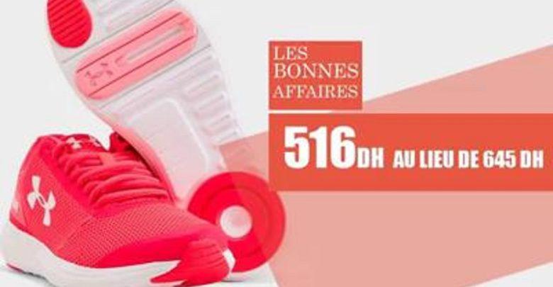 Soldes Olympe Store Chaussure de sport UNDER ARMOR 516Dhs au lieu de 645Dhs