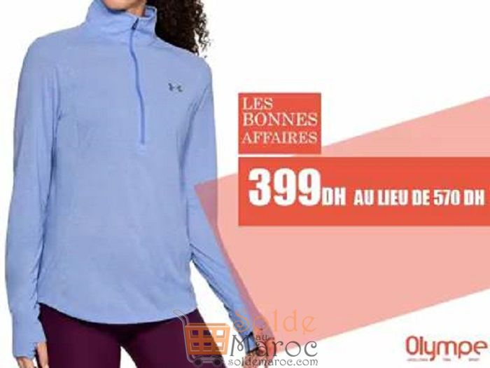 Soldes Olympe Store Sweet-shirt UNDER ARMOR 399Dhs au lieu de 570Dhs