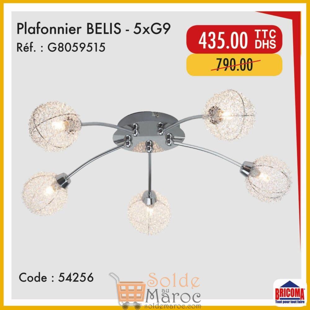 Soldes Bricoma Plafonnier BELIS 435Dhs au lieu de 790Dhs