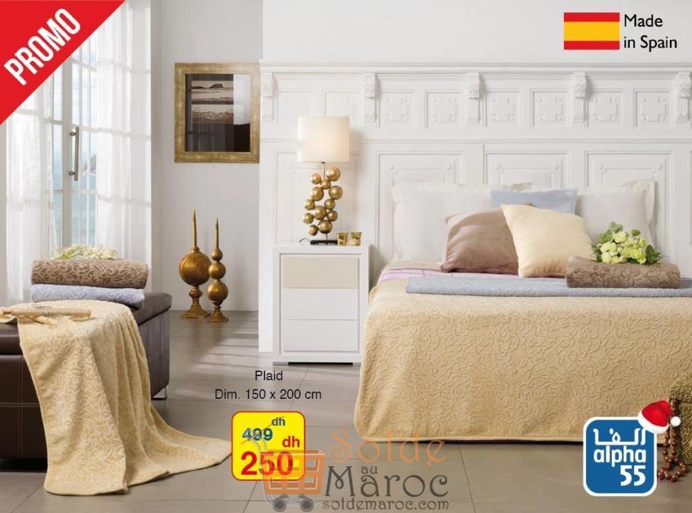 Promo Alpha55 Plaid made in Spain 250Dhs au lieu de 499Dhs