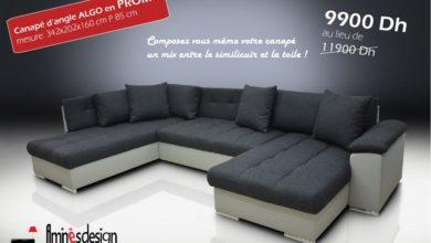 Promo Spéciale Amines Design Canapé d'angle ALGO 9900Dhs au lieu de 11900Dhs