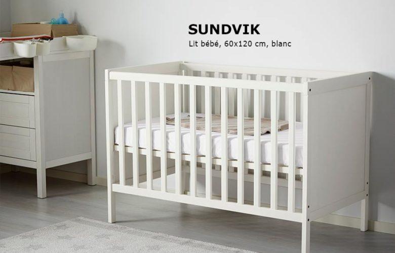 Soldes Ikea Family Maroc SUNDVIK Lit bébé blanc 1795Dhs au lieu de 2250Dhs