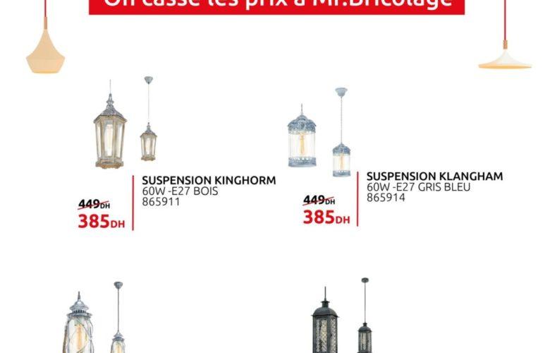 Promo Mr Bricolage Maroc divers Suspensions modernes