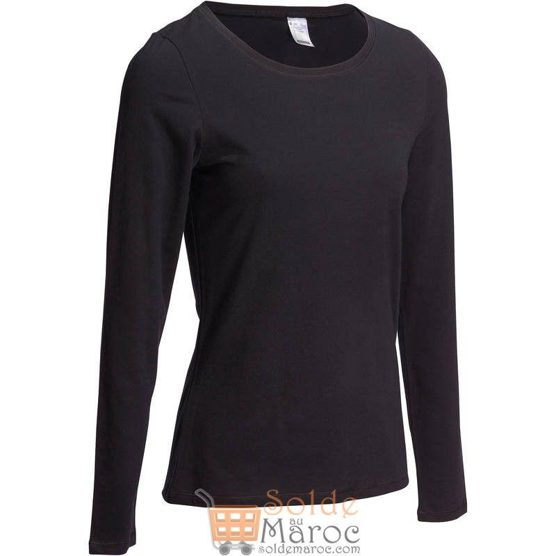 Soldes Decathlon T-Shirt DOMYOS Gym Stretching femme 49Dhs au lieu de 69Dhs