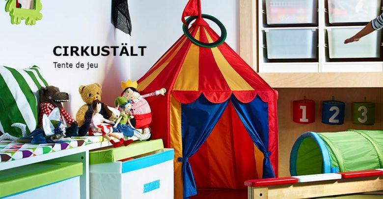Photo of Soldes Ikea Family Maroc Tente de jeu CIRKUSTÄLT 119Dhs au lieu de 249Dhs