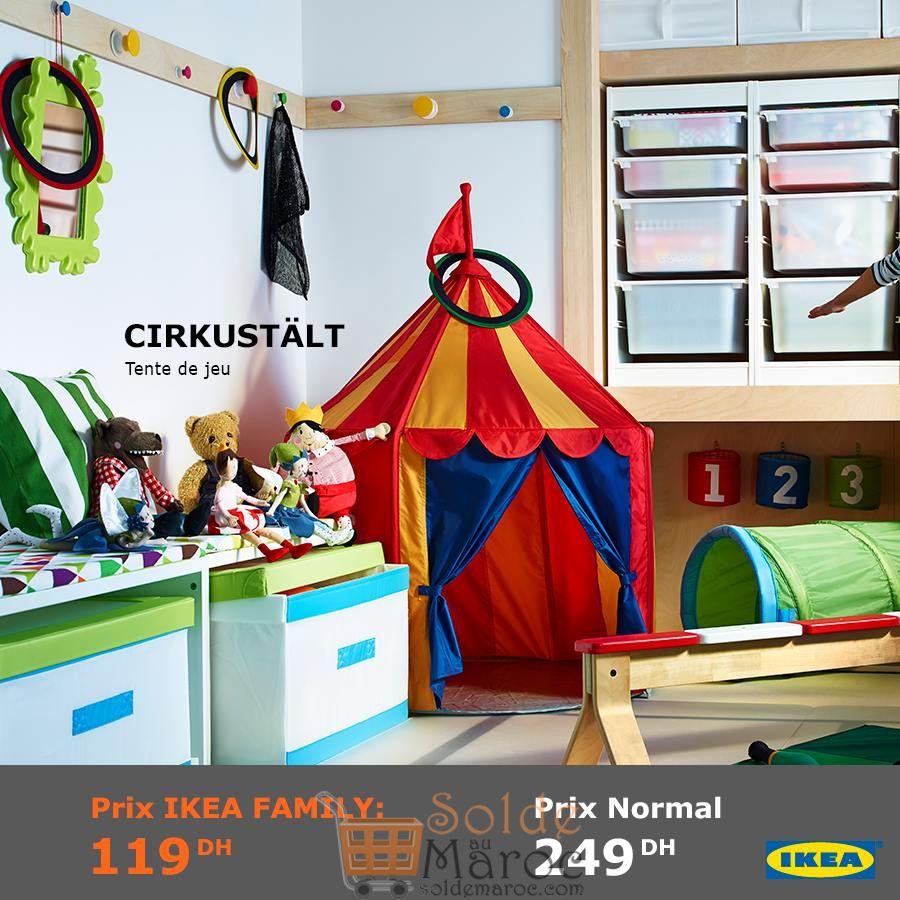 Soldes Ikea Family Maroc Tente de jeu CIRKUSTÄLT 119Dhs au lieu de 249Dhs