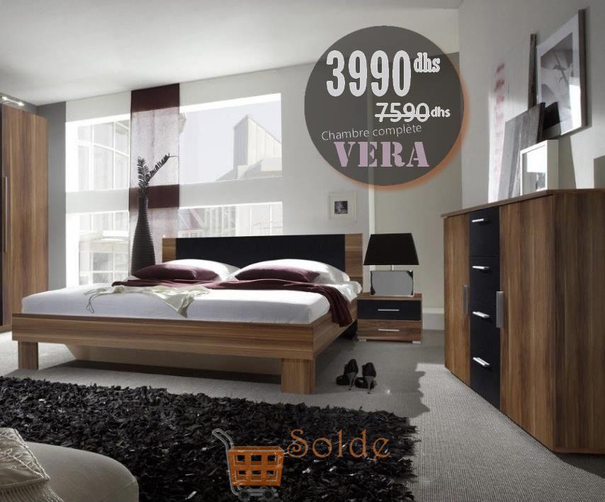Soldes Azura Home CHAMBRE COMPLÈTE VERA, COGNAC 3990Dhs au lieu de 7590Dhs