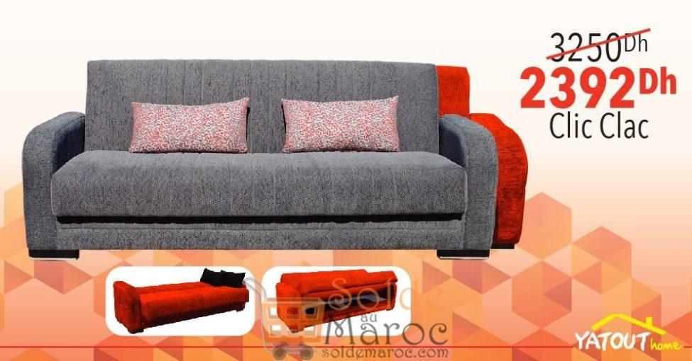 Promo Yatout Home Canape Clic Clac Diego Avec Espace De Rangement 2392dhs Au Lieu De 3250dhs