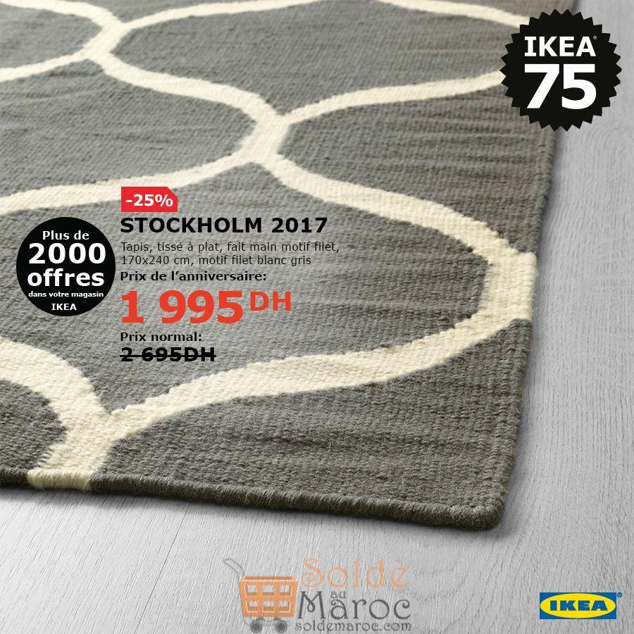 Soldes Ikea Maroc Tapis tissé à plat fait main STOCKHOLM 1995Dhs au lieu de 2695Dhs